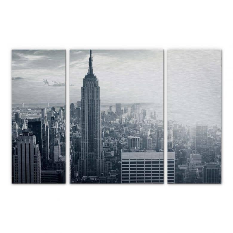 The Empire State Building Aluminium Print (3-piece)