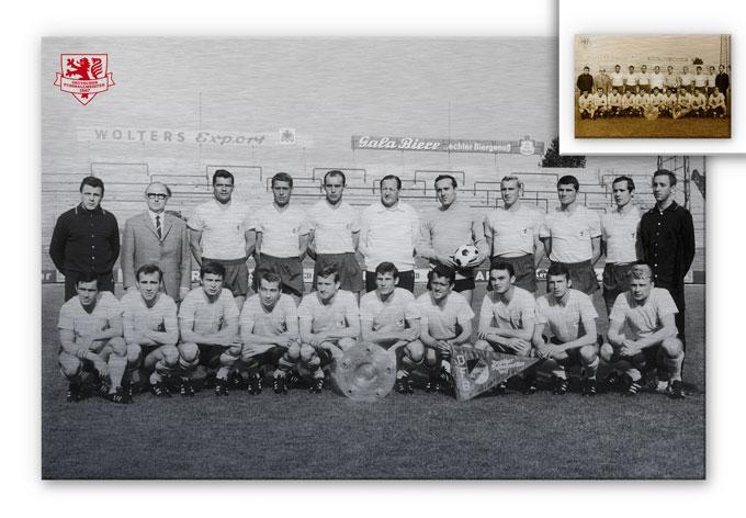 Alu-Dibond Bild Eintracht Braunschweig Meistermannschaft 1967
