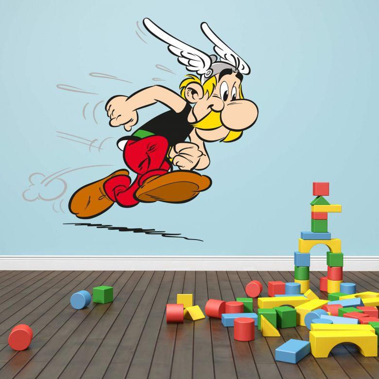 Wandtattoo Asterix & Obelix - rennender Asterix