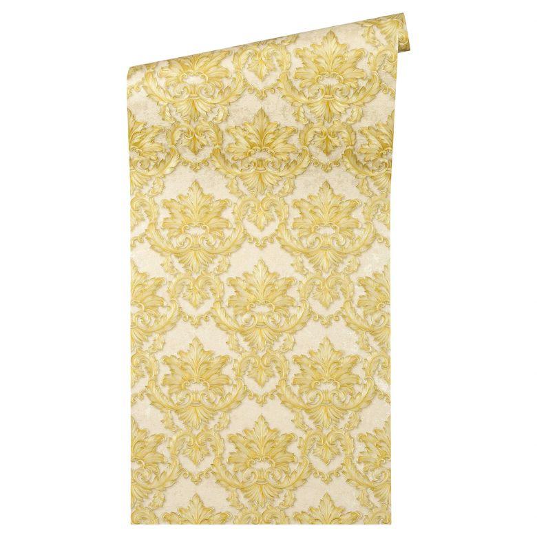 Architects Paper Tapete Luxury Classics beige, gelb, metallic