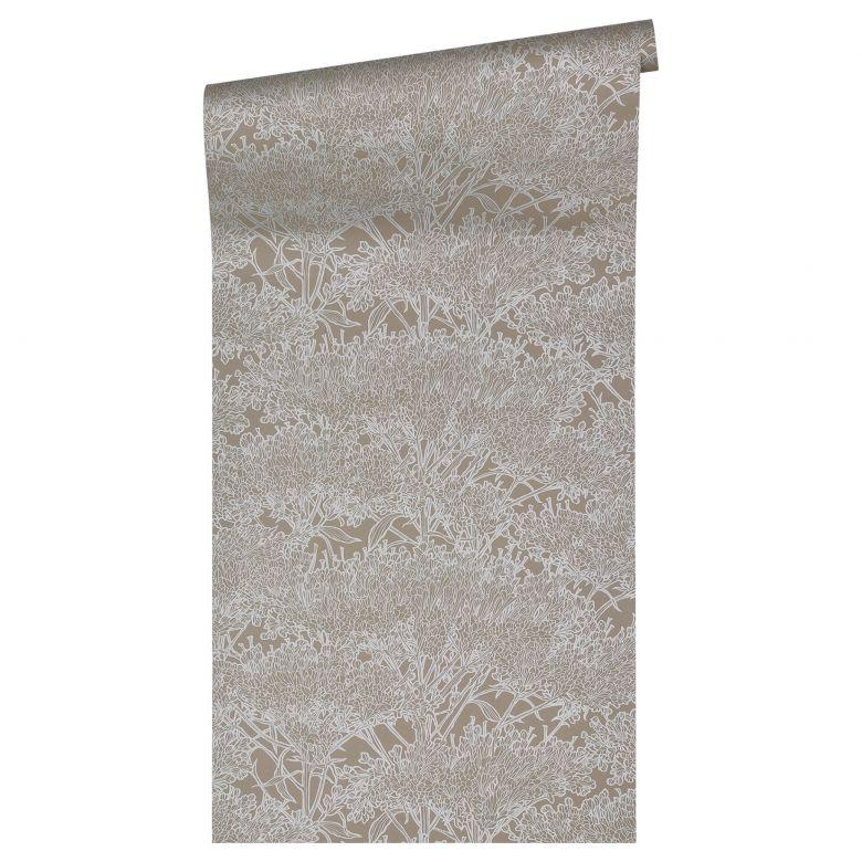 Architects Paper Vliestapete Absolutely Chic Blumentapete floral grau, metallic