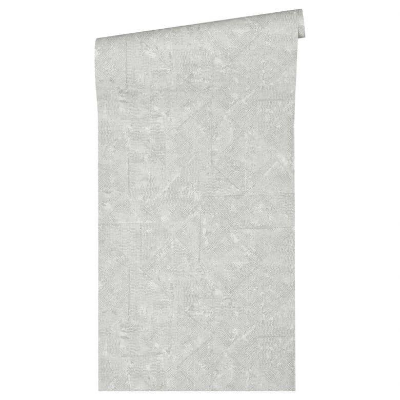 Architects Paper Vliestapete Absolutely Chic Tapete im Ethno Look metallic, grau