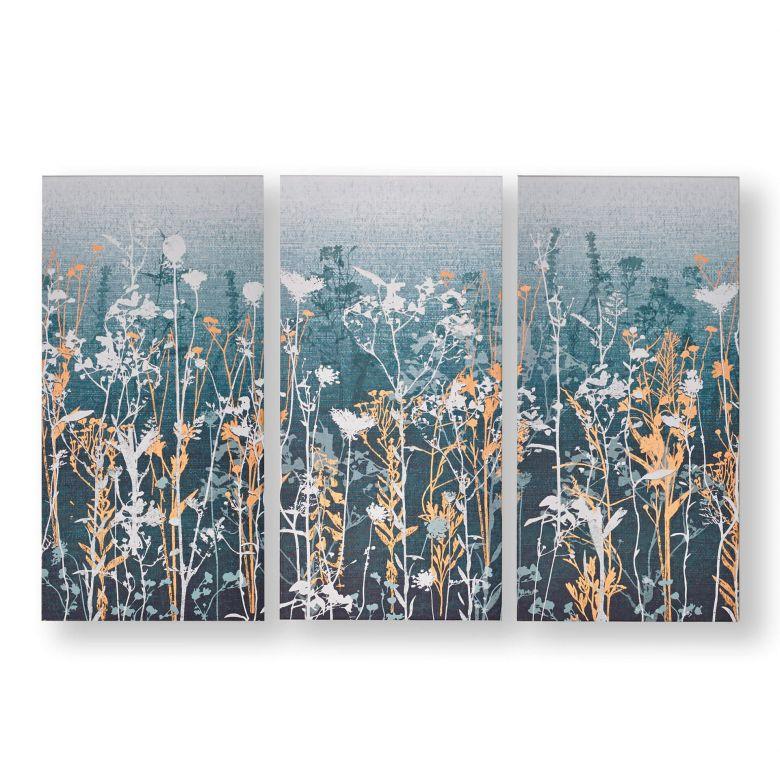 3-er Set Leinwandbild Wildflower Meadow