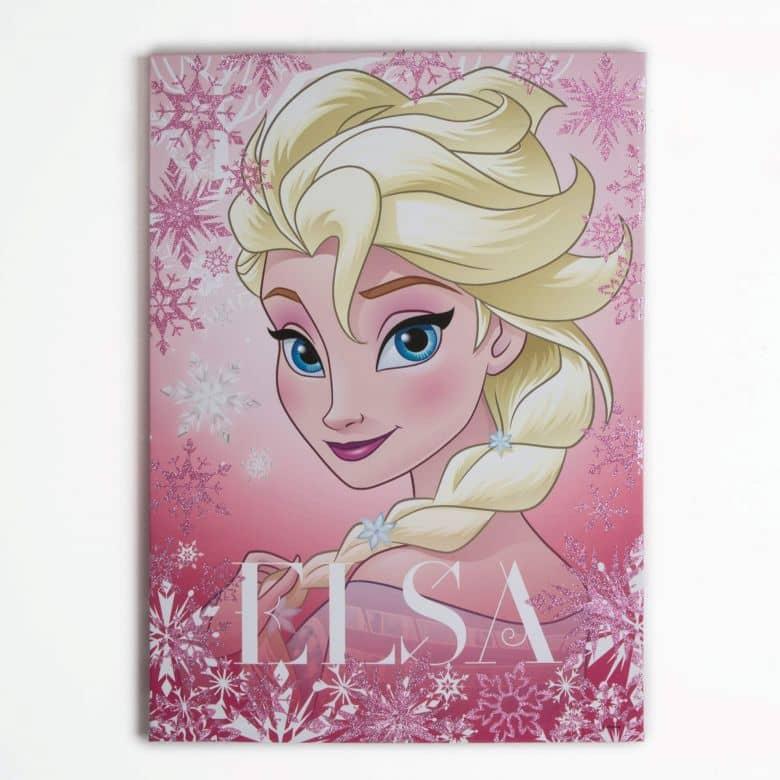 Canvas Frozen - Frosted Elsa (glitter)