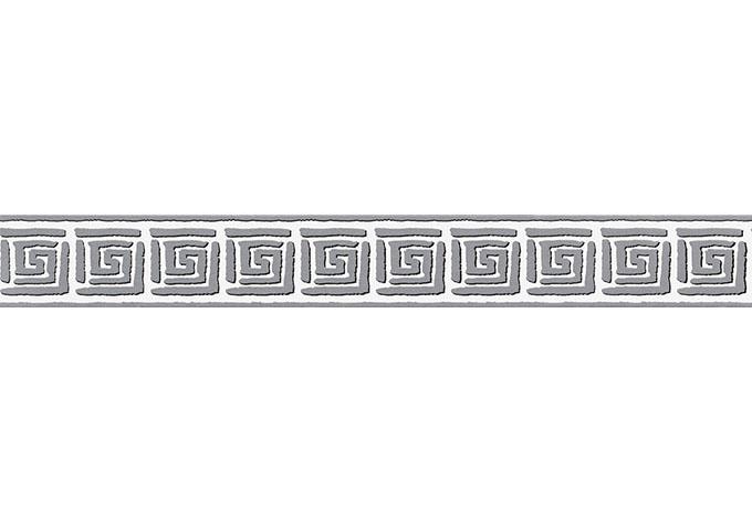 A.S. Création selbstklebende Bordüre Only Borders 9 grau, schwarz, weiß
