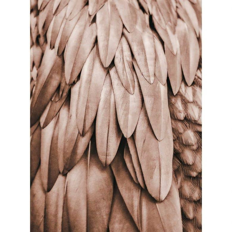 Livingwalls Fototapete ARTist Feathers mit Palmenblättern kupfer, orange