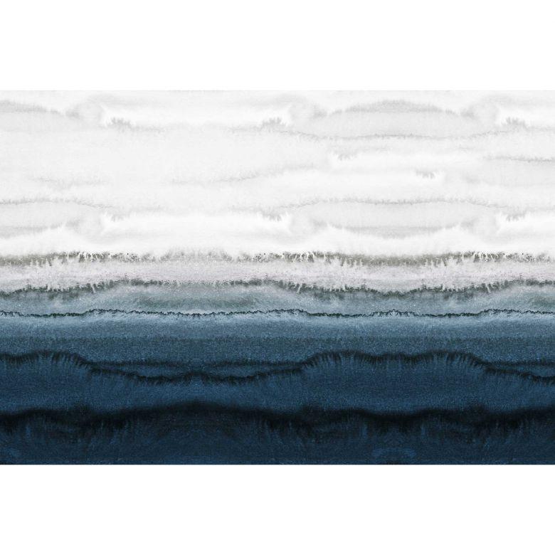 Livingwalls Fototapete ARTist Within the Tides Gezeiten blau, grau, weiß