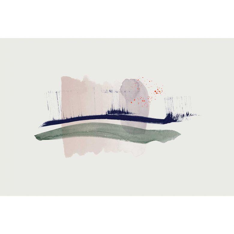 Livingwalls Fototapete ARTist Hope mit Aquarell Zeichnung blau, creme, grün, violett