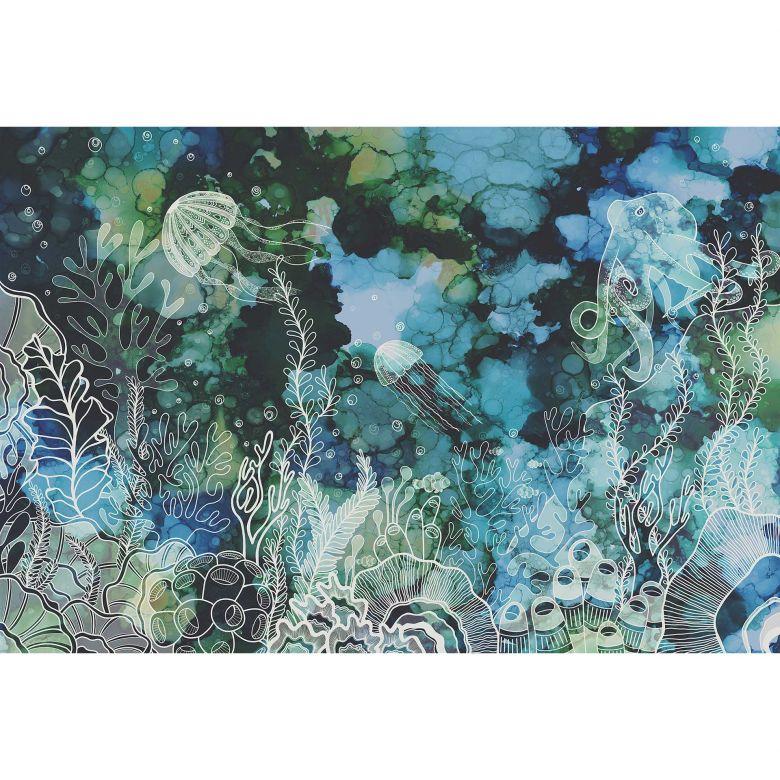 Livingwalls Fototapete ARTist Underwater Colour Unterwasser Welt blau, grün, türkis