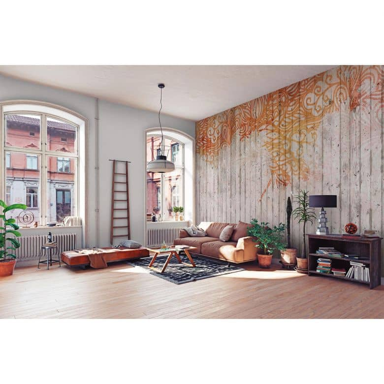 Architects Paper Fototapete Atelier 47 Concrete Ornament barock