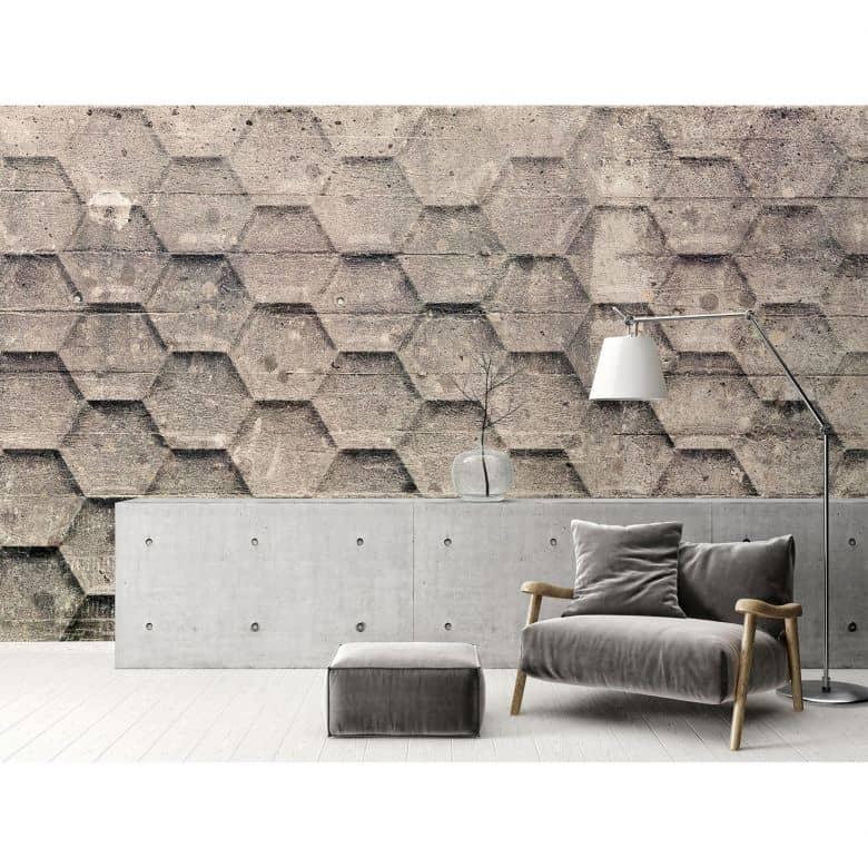 Architects Paper Fototapete Atelier 47 Honeycomb in 3D Optik
