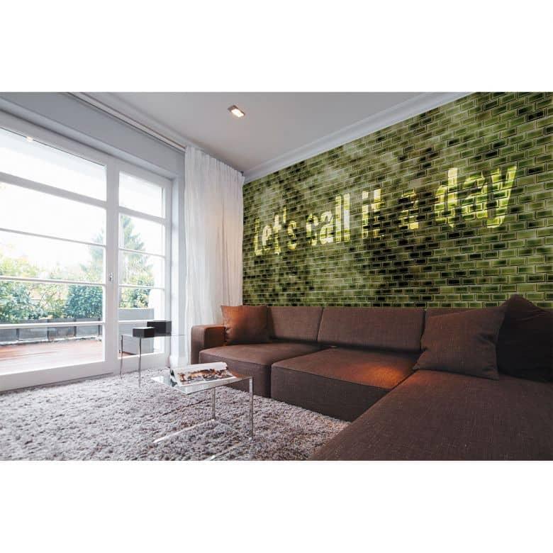 Architects Paper Fototapete Atelier 47 Green Tiles in Steinoptik
