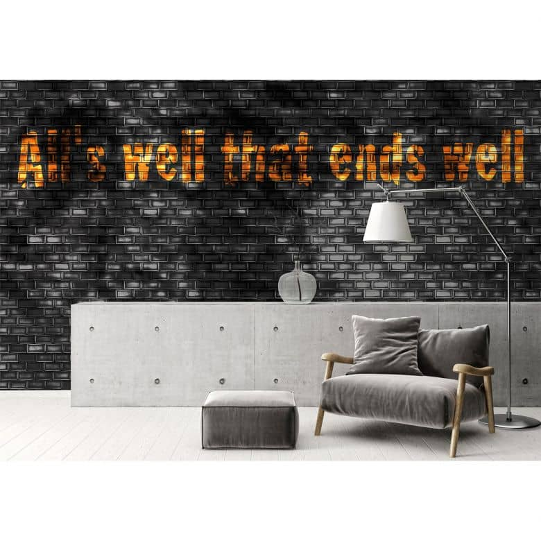 Architects Paper Fototapete Atelier 47 Black Tiles in Steinoptik