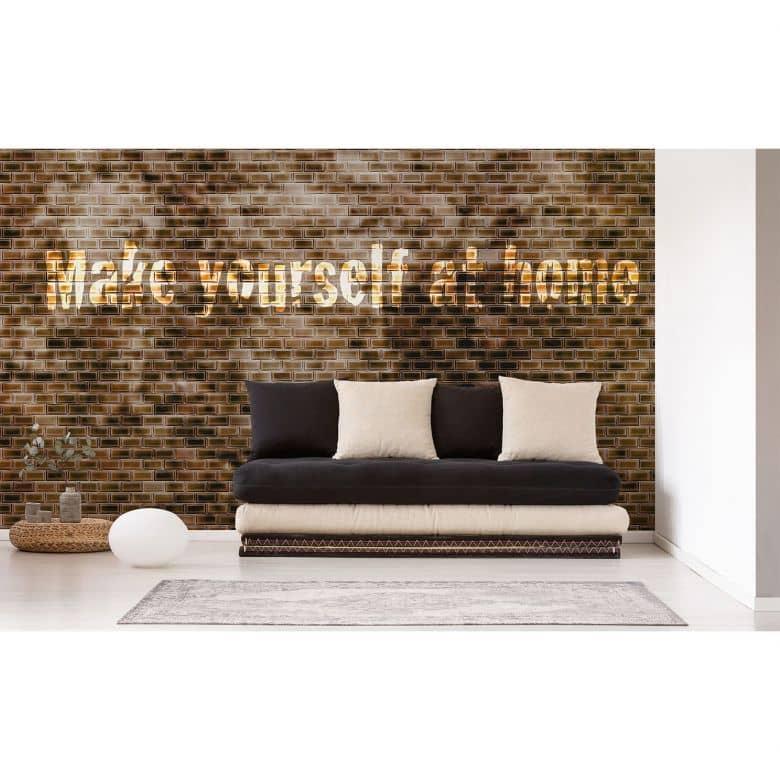 Architects Paper Fototapete Atelier 47 Brown Tiles in Steinoptik