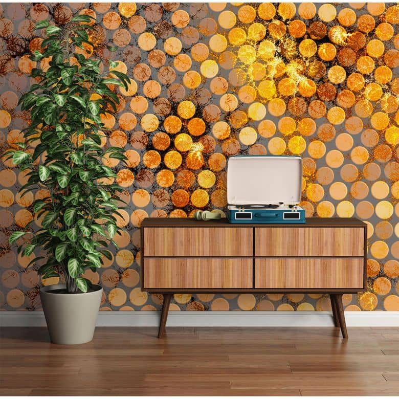 Architects Paper Fototapete Atelier 47 Lavillia Orange in 3D Optik