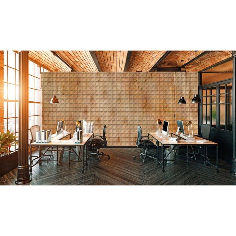 Architects Paper Fototapete Atelier 47 Square Wood in Holzoptik