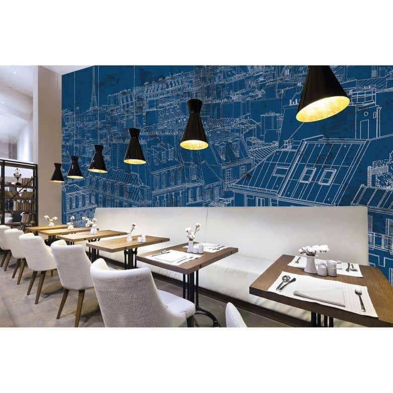 Architects Paper Fototapete Atelier 47 View of Paris Stadt