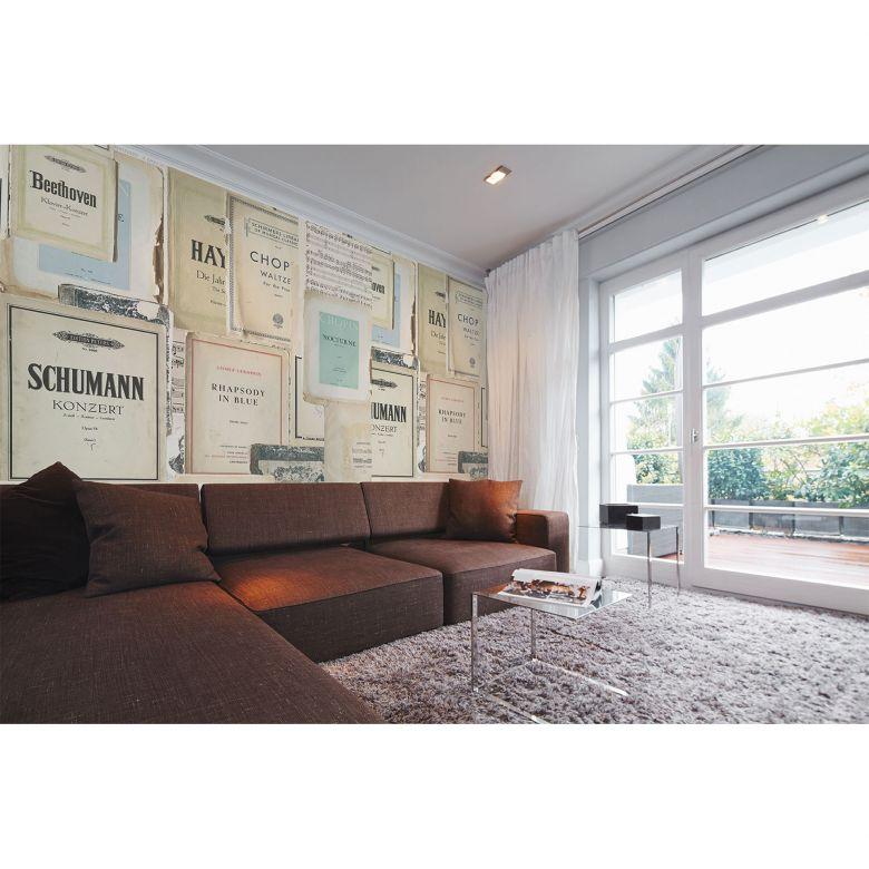 Architects Paper Fototapete Atelier 47 Sheet of Music retro vintage
