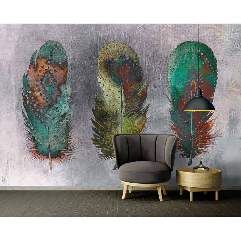 Architects Paper Fototapete Atelier 47 Motley Feather mit Federn