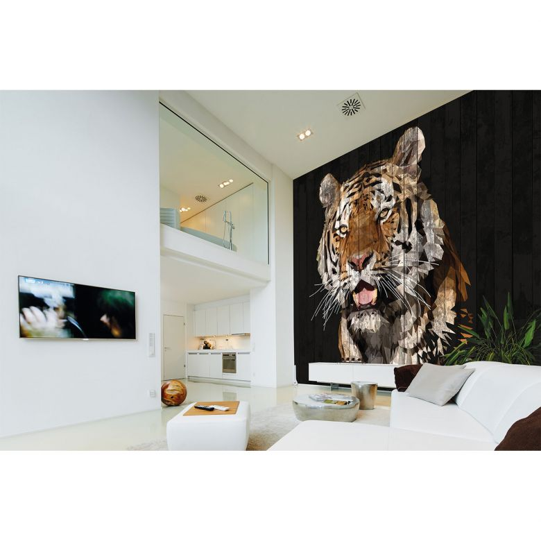 Architects Paper Fototapete Atelier 47 Polygon Tiger Tiere