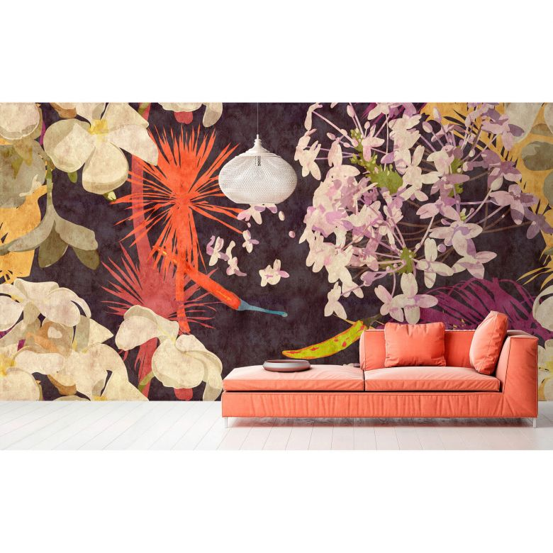 Livingwalls Photo Wallpaper Walls by Patel 2 vintage bouquet 1