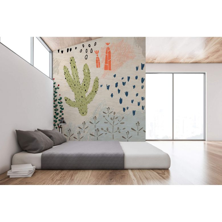 Livingwalls Fototapete Walls by Patel 2 crayon garden 2
