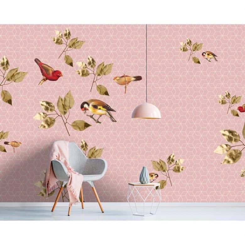 Livingwalls Fototapete Walls by Patel 2 brilliant birds 1