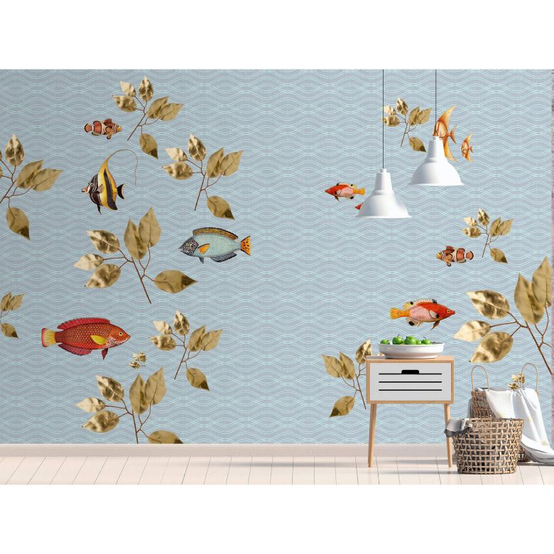 Livingwalls Fototapete Walls by Patel 2 brilliant fish 1