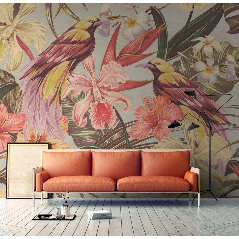 Livingwalls Photo Wallpaper Walls by Patel 2 exotic birds 1