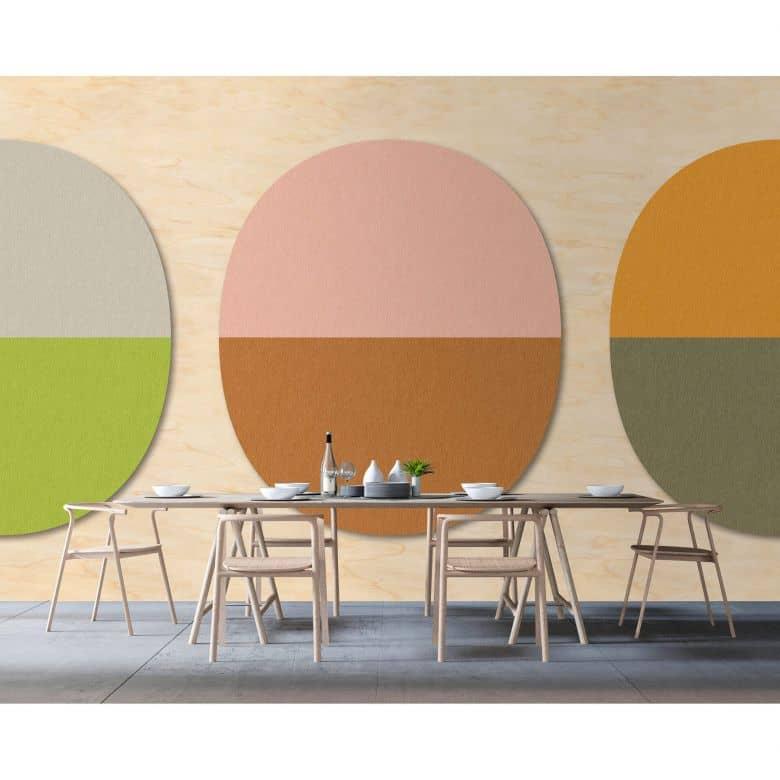 Livingwalls Fototapete Walls by Patel 2 split ovals 1