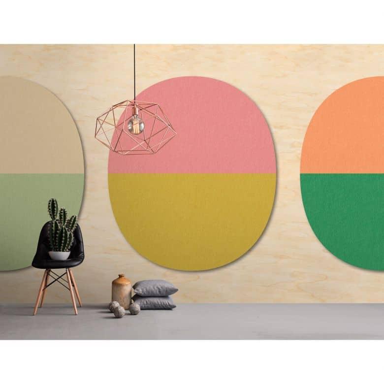 Livingwalls Fototapete Walls by Patel 2 split ovals 2