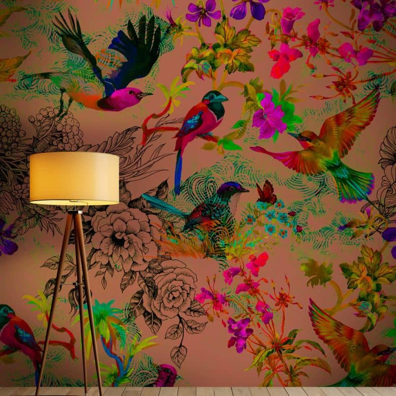 Livingwalls Photo Wallpaper Walls by Patel funky birds 3