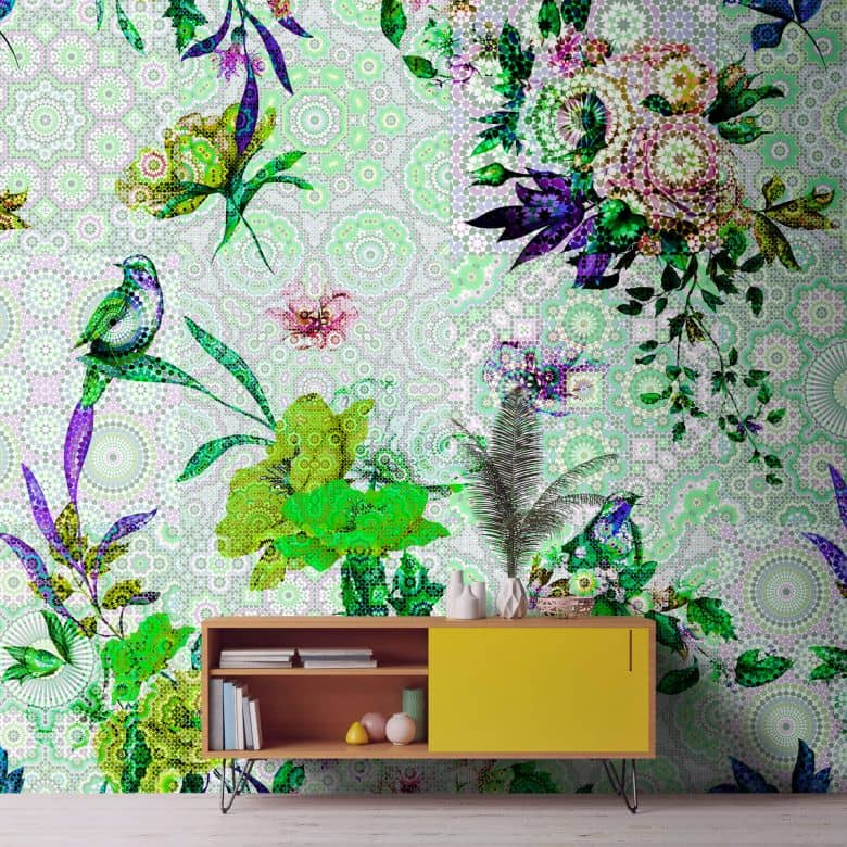 Livingwalls Fototapete Walls by Patel mosaic garden 1