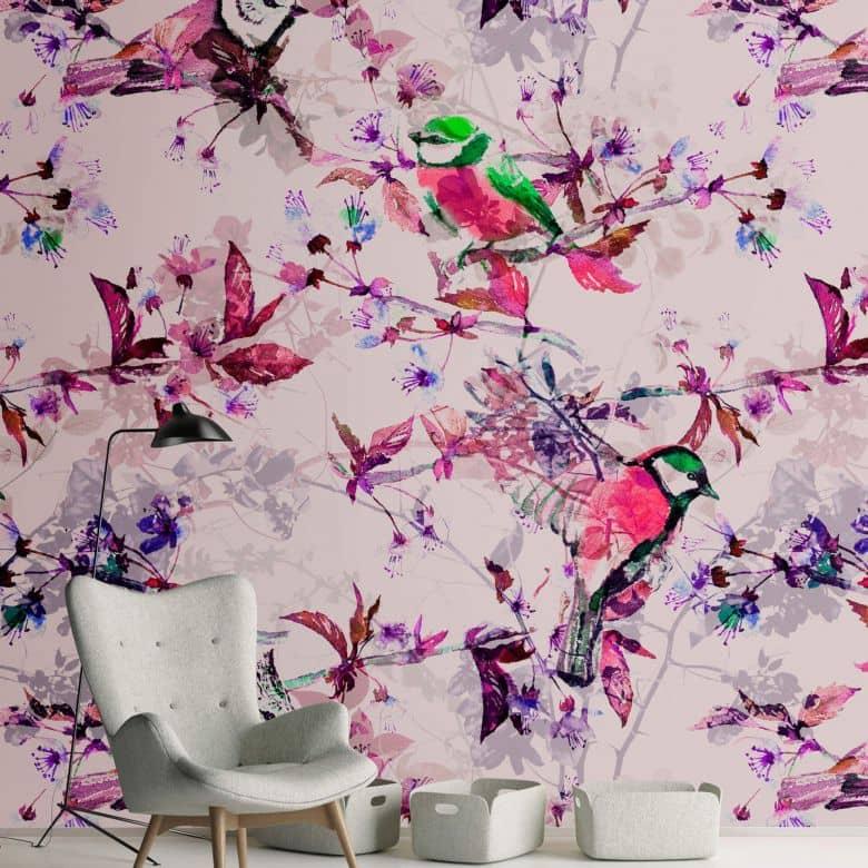 Livingwalls Fototapete Walls by Patel songbirds 1