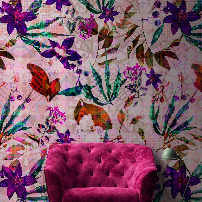 Livingwalls Fototapete Walls by Patel mosaic blossom 1
