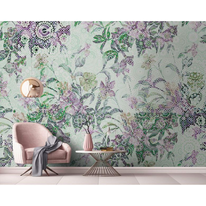 Livingwalls Fototapete Walls by Patel mosaic leaves 2