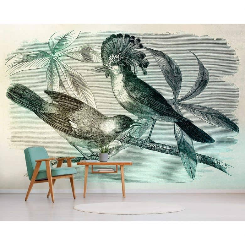 Livingwalls papier peint photo Walls by Patel vintage birds 1