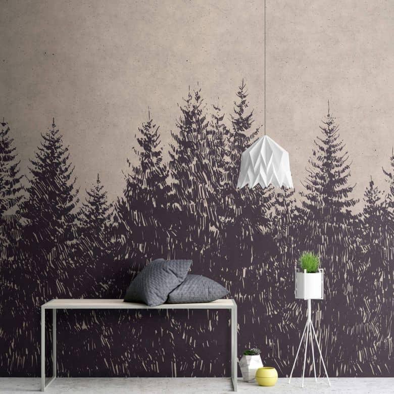 Livingwalls Photo Wallpaper Walls by Patel black forest 1
