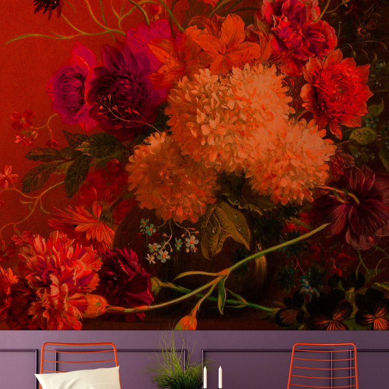 Livingwalls Fototapete Walls by Patel bouquet vibrant 1