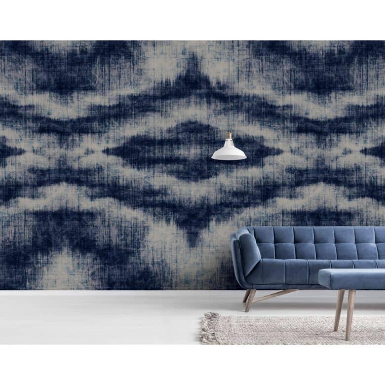 Livingwalls Fototapete Walls by Patel indigo canvas 1