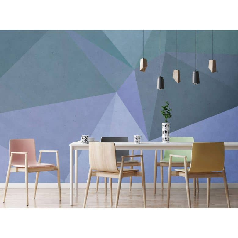Livingwalls Fototapete Walls by Patel polygonal 3
