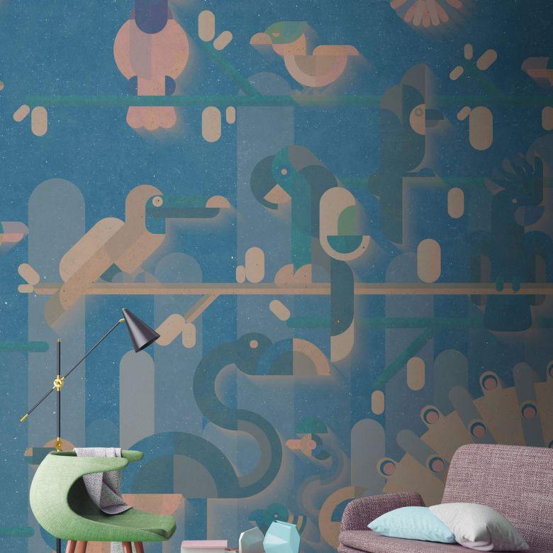 Livingwalls Fototapete Walls by Patel flamingo 1