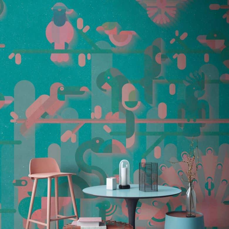Livingwalls Fototapete Walls by Patel flamingo 2