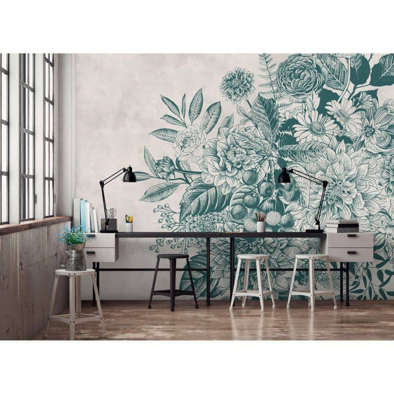 Livingwalls Fototapete Walls by Patel greenery 1