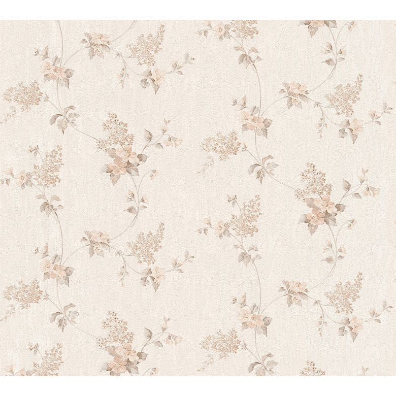 A.S. Création Tapete Concerto 3 klassisch floral braun, creme, weiß