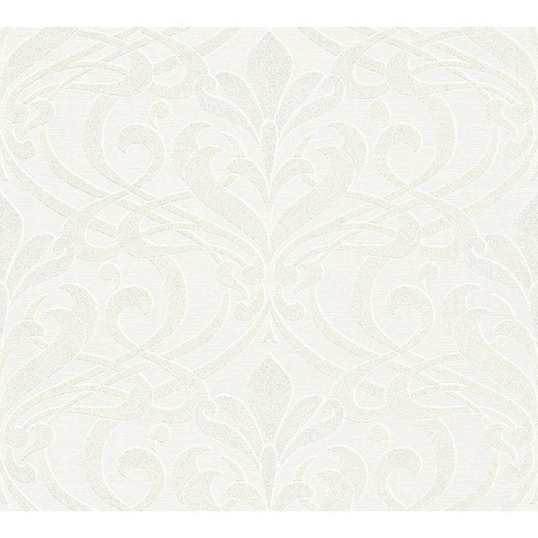 A.S. Création Strukturprofiltapete Kingston metallic, weiß