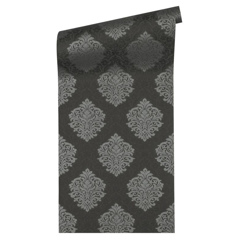 Architects Paper Vliestapete Alpha Ökotapete metallic, schwarz