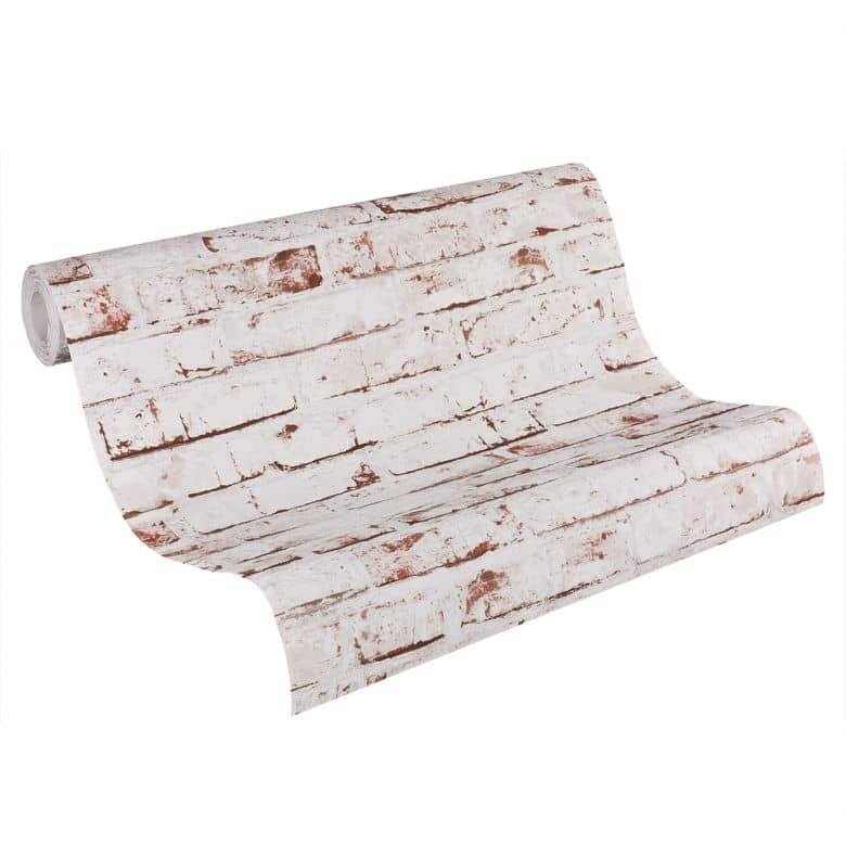A.S. Création non-woven wallpaper Best of Wood`n Stone 2nd Edition beige, brown, red