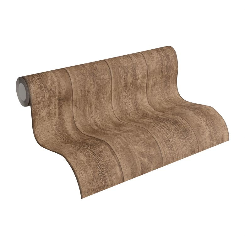 A.S. Création non-woven wallpaper Best of Wood`n Stone 2nd Edition brown
