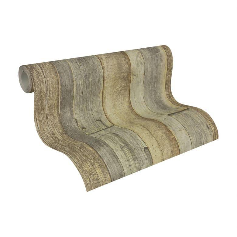 A.S. Création Best of Wood`n Stone 2nd Edition Papier peint effet bois - Brun